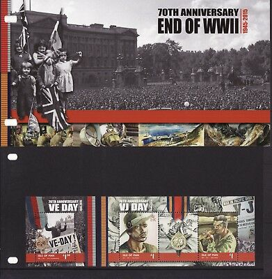 2015 Isle of Man, 70th Anniversary,End of WWII, Presentation Pack