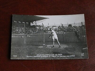 Original Paris Olympic Games 1924 Athletics Postcard - Tootell, Champion, Hammer