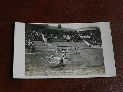 Original Paris Olympic Games 1924 Water Polo Postcard - Hungary V Great Britain.