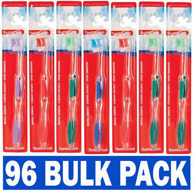 96 Individual Bulk Pack Hotel B&B Wholesale Adult Toothbrush Toothbrushes UK