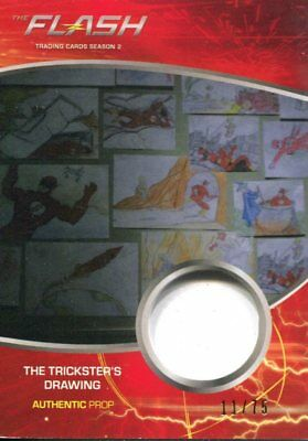 The Flash Season 2 Prop Relic Card M32 The Trickster's Drawing #11/75