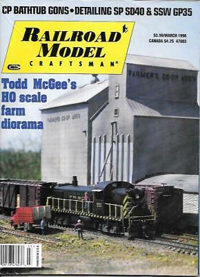 Railroad Model Craftsman Mar.1996 N HO Scale Farm Diorama Kato SP SD40 GP35
