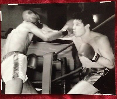 Great Lot Of 2 Original Photos British Light Middleweight Champ Wally Swift Jr!