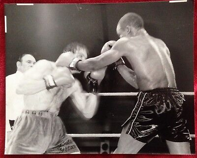 Nice Original Photo Of British Welterweight Champion Kostas Petrou In Action!!!