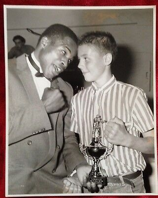 Rare Original Photo Of British Welterweight Champion Sylvester Mittee With A Fan