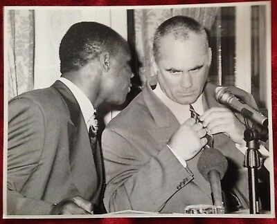 Nice Rare Original Photograph The Great Chris Eubank And Trainer Ronnie Davies!!