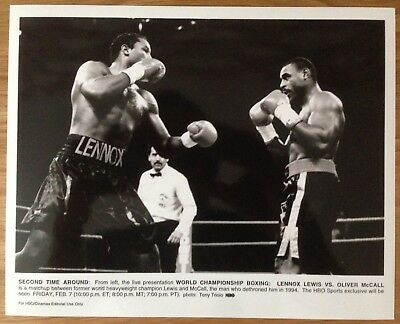 RARE VINTAGE ORIGINAL PROMO PHOTOGRAPH LENNOX LEWIS VS OLIVER McCALL II 1997!!