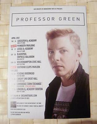 Professor Green Tour Flyer - April + May 2012