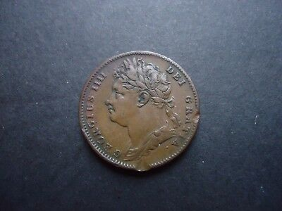 GB 1823 George IV Farthing coin