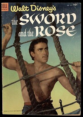 Four Color (1942) #505 1st Print Walt Disney The Sword And The Rose Movie GD/VG