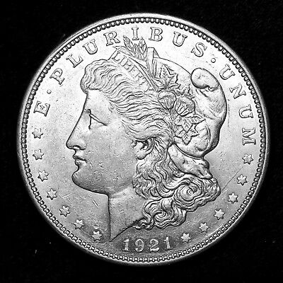 1921 D ~**ABOUT UNCIRCULATED AU**~ Silver Morgan Dollar Rare US Old Coin! #R71