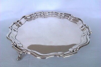 Heavy Solid Silver Ornate Edwardian Footed Tray Robert Pringle & Sons 1904  479g