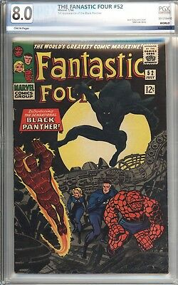 Fantastic Four #52 Vol 1 PGX 8.0 Beautiful High Grade 1st App of Black Panther