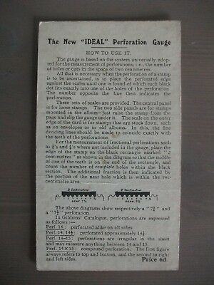 """The New """" IDEAL """" Perforation Gauge ~ Stanley Gibbons Ltd"""