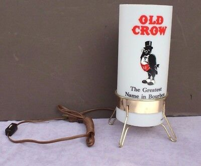 Vintage 1970's OLD CROW BOURBON WHISKEY ADVERTISING Table Desk Lamp