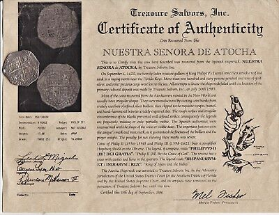 c.1622 MEL FISHER SHIPWRECK ATOCHA Spanish Colonial SILVER 8 Reales Great Coin !