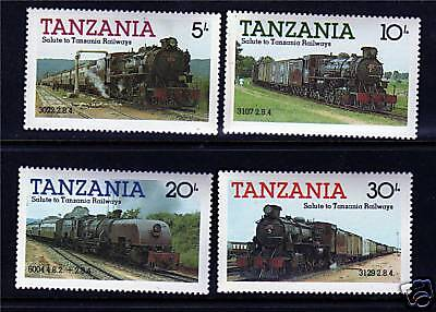 Tanzania 1985 Steam Locomotives SG 430/3 MNH