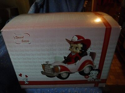 Special Condition Betty Boop in Comic Car Bimbo Pudgy w/Box Car 12 Inch Long