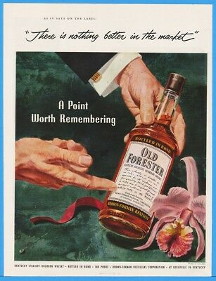 1953 Old Forester Brown Forman Louisville KY Bottle Nothing Better Print Ad