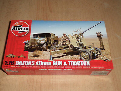 Airfix 1:76 No. A02314 WWII Bofors 40mm Gun & Tractor