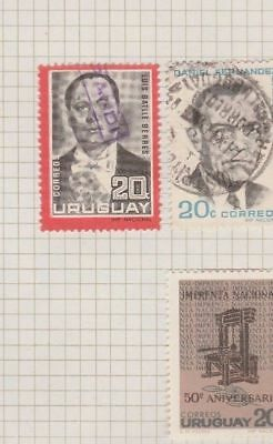 URUGUAY 1966 Presidents etc on Old Book Pages   #