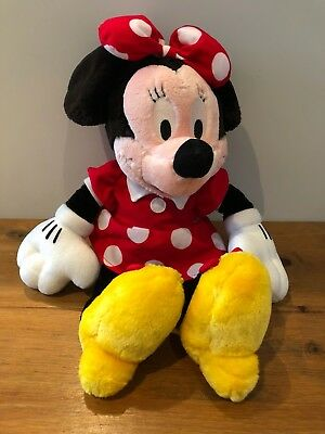 *disney Store Minnie Mouse Plush In A  Dress* *15 Inches* *collectable*