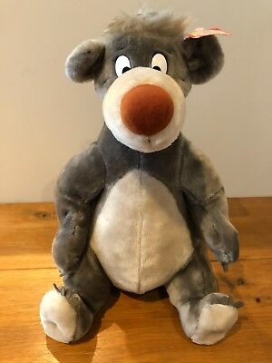 "Disney Jungle Book Plush BALOO Bear Soft Toy Large 16"" Vintage With Tags Park"