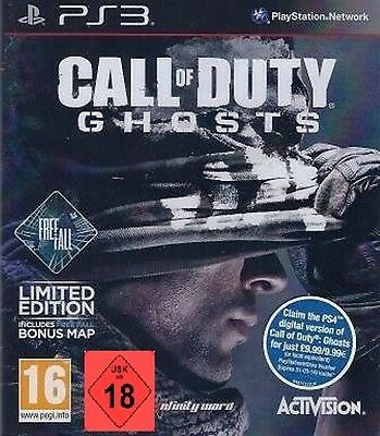 PS3 jeu CALL OF DUTY GHOSTS Freefall Free Fall Nouvelle edition limitée