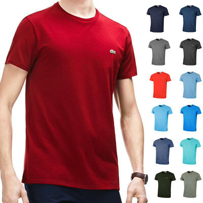 270a24929e7b LACOSTE MENS 2018 SS Crew Neck Pima Cotton T-Shirt TH6709 Short Sleeve Tee  - $58.63 | PicClick