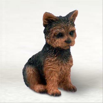 Yorkshire Terrier Sport Cut Dog Tiny One Miniature Small Hand Painted Figurine