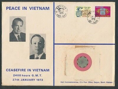 Vietnam: 1973 Peace in Vietnam Coin & Stamp PNC, Limited Edition # 101/500