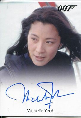 James Bond 50th Anniversary Series 2 Autograph Card Michelle Yeoh