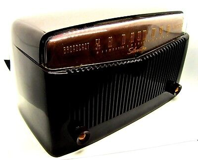 Excellent Silvertone radio ORIGINAL BAKELITE working m-9005 5 tube ca-1949 LQQK!