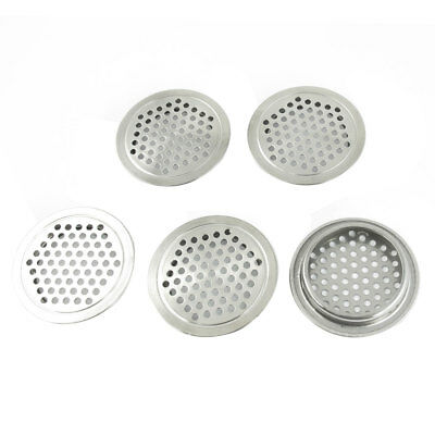Household 65mm Dia Stainless Steel Round Shape Mesh Hole Air Vents 4 Pcs