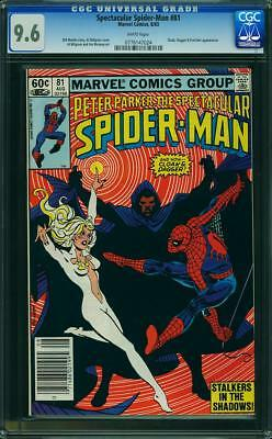 Peter Parker The Spectacular Spider Man  # 81  Marvel 1983 Cloak & D Cgc 9.6 Nm+