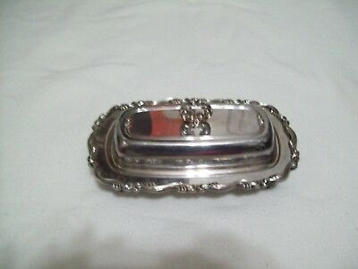 Silverplate Wm A Rogers Royal Provincial Covered Butter Dish W/glass Insert