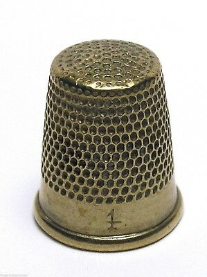 Fingerhut Thimble aus Metall Nr. 4 - 15 mm