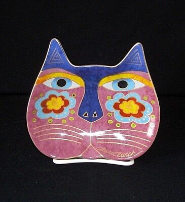 2007 LAUREL BURCH SIGNED Cat Plate Dish WINE THINGS UNLIMITED