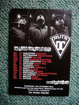 Ruts Dc -  2015 Flyer - Uk Tour October 2015