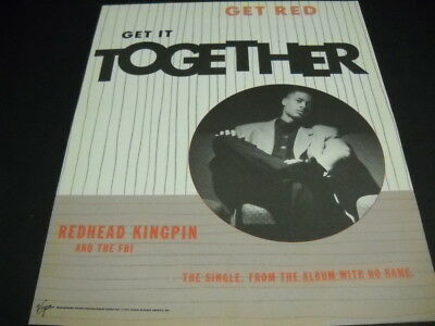 REDHEAD KINGPIN and the FBI Get Red - Get It Together 1991 PROMO POSTER AD mint