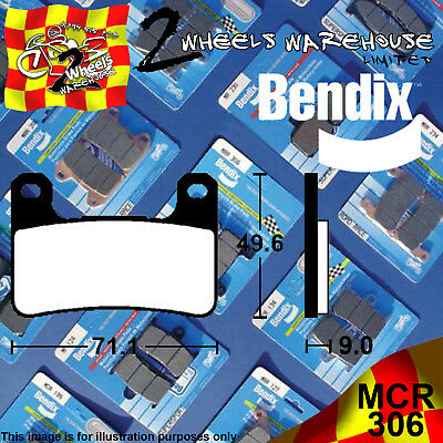 Bendix 306-Mcr Carbon Race Front Brake Pads Fits Motorcycles Detailed In Listing