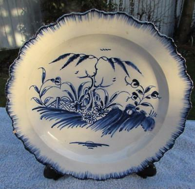 Late 18thC Antique Liverpool Pearlware Plate - Chinoiserie Pattern
