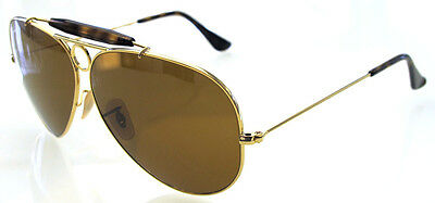 412179bbbb RAY BAN 3138 62 Shooter Gold Havana Lens Ambermatic Remix Customized ...