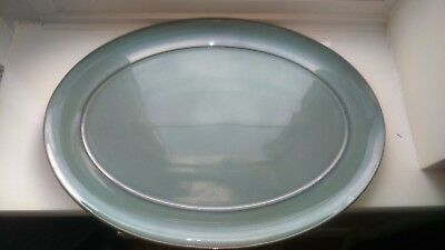 Lovely Vintage Denby Regency Green Large Oval Serving Platter