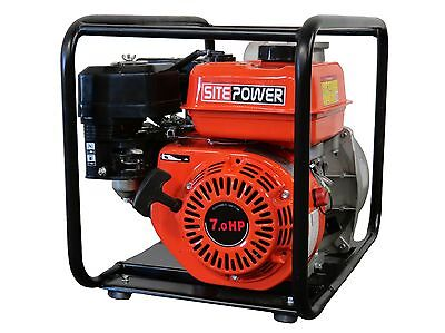 """SitePower SP80 Portable 3"""" Water Pump 220 GPM Gasoline 7.0 HP - NEW"""