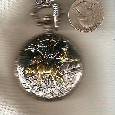 Irish Setter or English Setter Hunter Pocket Watch with touches of Goldtone