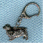 Clumber Spaniel Nickel Silver Key Ring Chain Jewelry