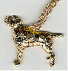 "Border Terrier Gold Plated Pendant Necklace Jewelry on 20"" Chain LAST ONE!"