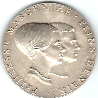 1967 Danish Silver Medal for Marriage of Princess Margrethe and Prince Henrik