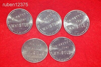 5 Whistle Orange, Good For One Bottle of Soda Token Coin, Thirsty? Just Whistle